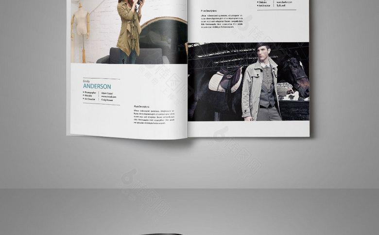 高档女装_品牌服装风衣画册模板下载_品牌服装风衣画册宣传册模板-棒图网