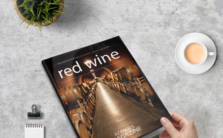 葡萄酒宣传画册