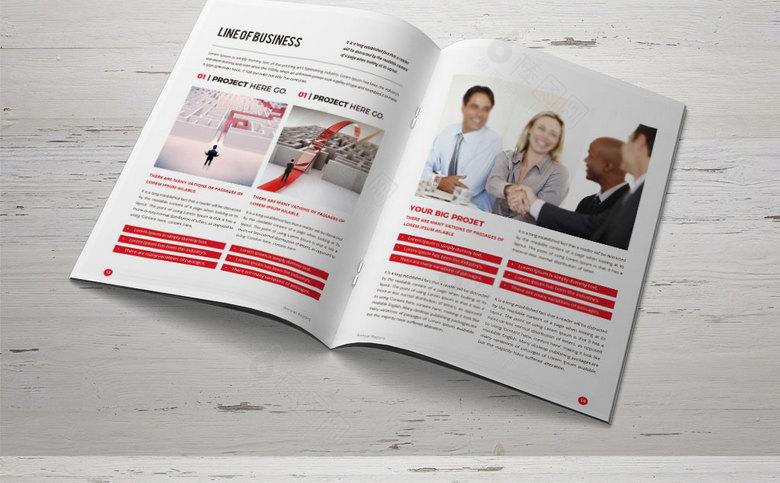 清新简约企业画册