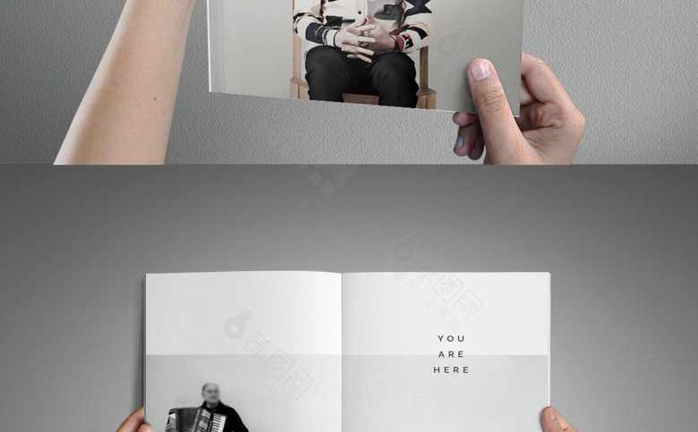 欧美简约画册设计