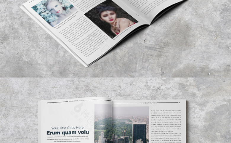 大气时尚杂志画册