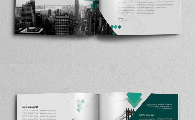 色块风简约企业画册