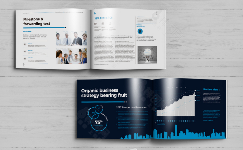 创意企业画册模板