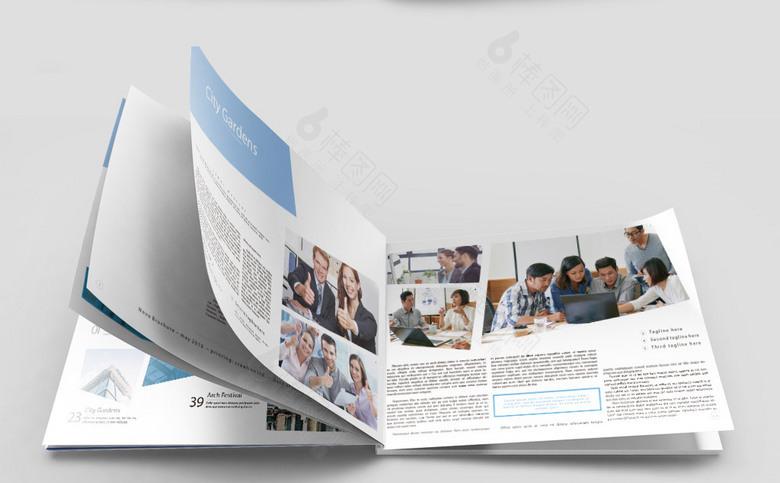 蓝色大气简约企业画册