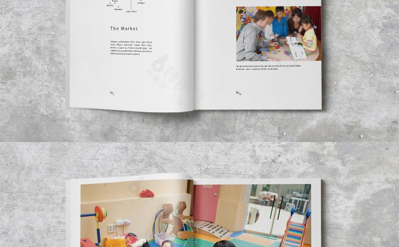 个性简洁幼儿园画册