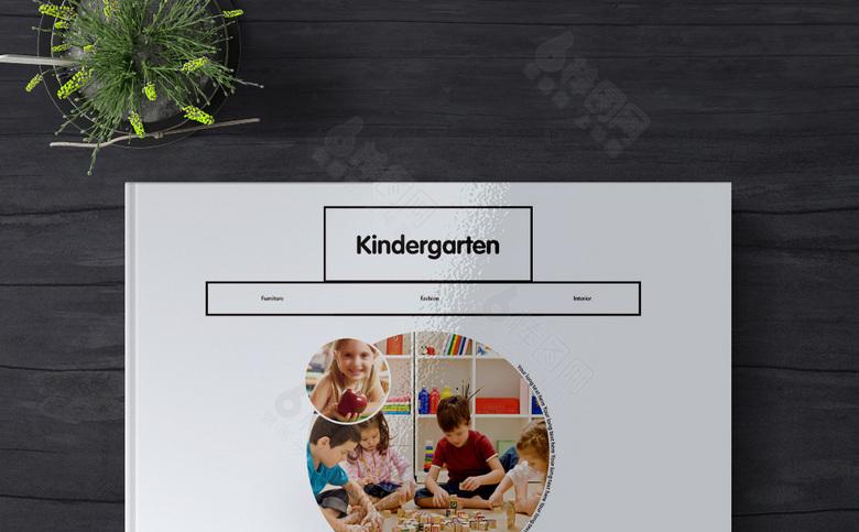 简约大气幼儿园模板
