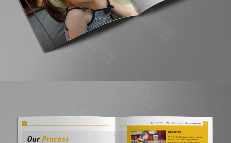 时尚幼儿园画册模板