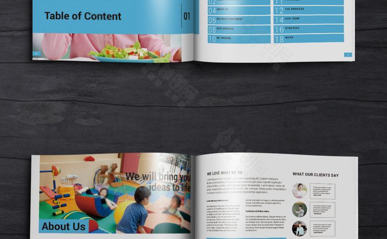 幼儿园画册模板