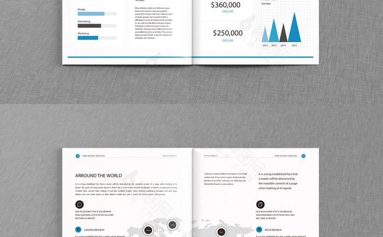 蓝色高端企业形象画册