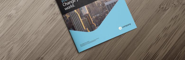 蓝色企业形象画册设计
