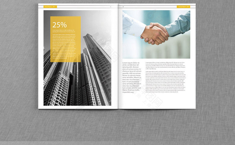 黄色公司宣传册模板设计
