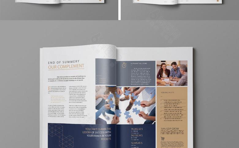 时尚几何企业画册模板