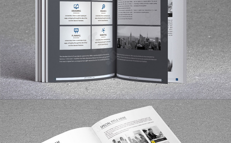 蓝色时尚企业形象画册设计