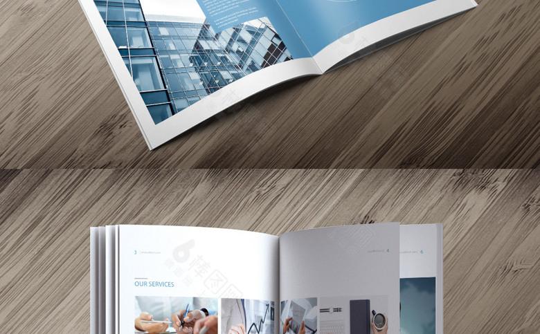 蓝色集团宣传画册模板设计
