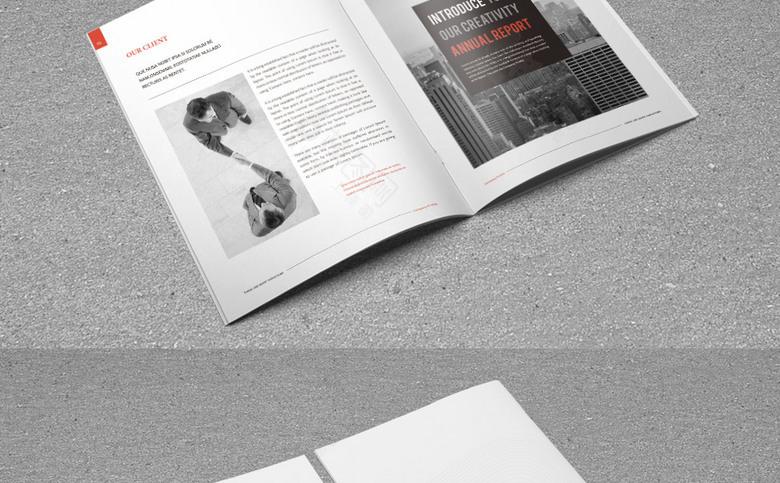 简约集团宣传画册模板设计