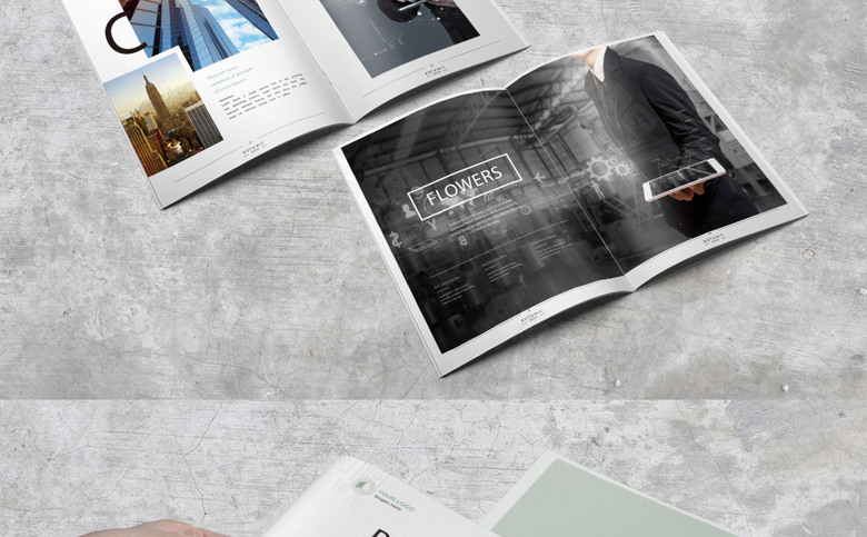 简约时尚公司画册模板设计