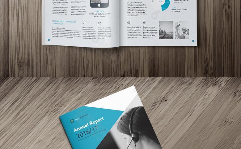 几何时尚公司画册模板设计
