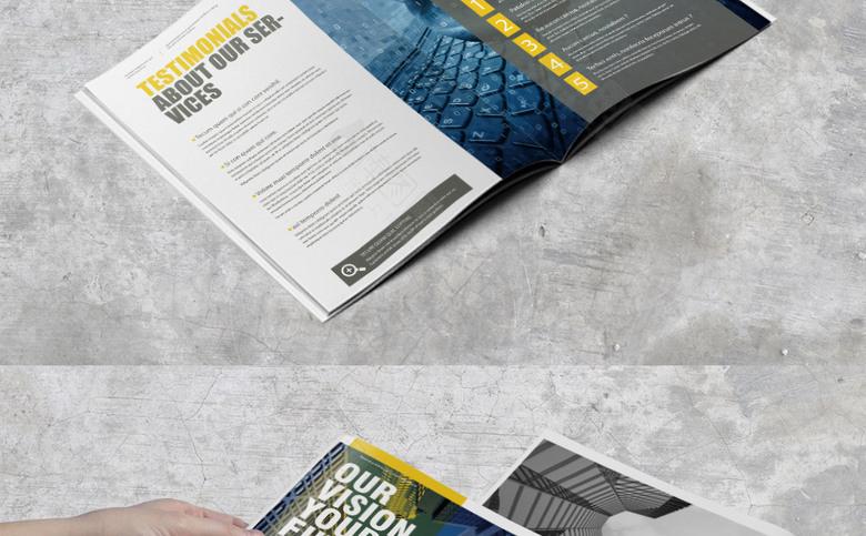 时尚简约企业画册模板设计