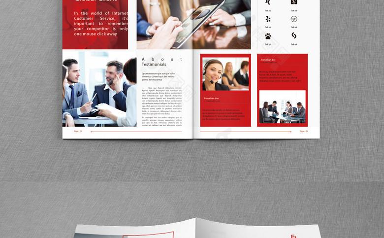 红色时尚公司画册模板