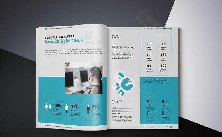 几何现代时尚公司画册模板设计