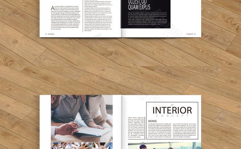 黑白商务公司画册模板设计