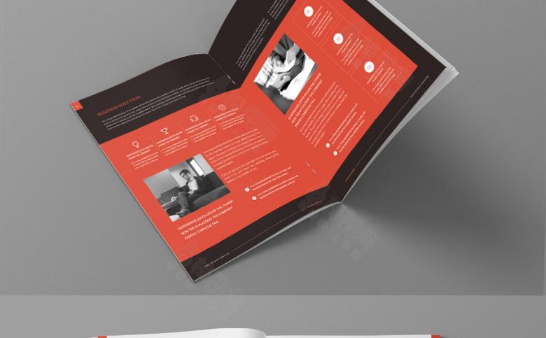 时尚公司画册模板