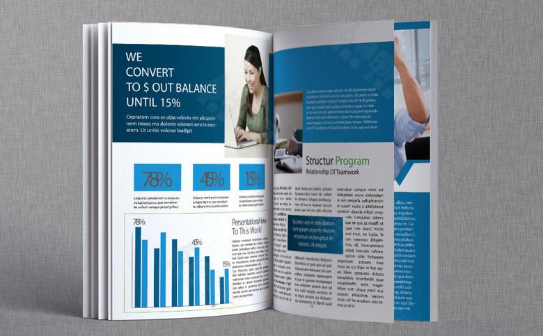 高端几何企业形象画册模板设计