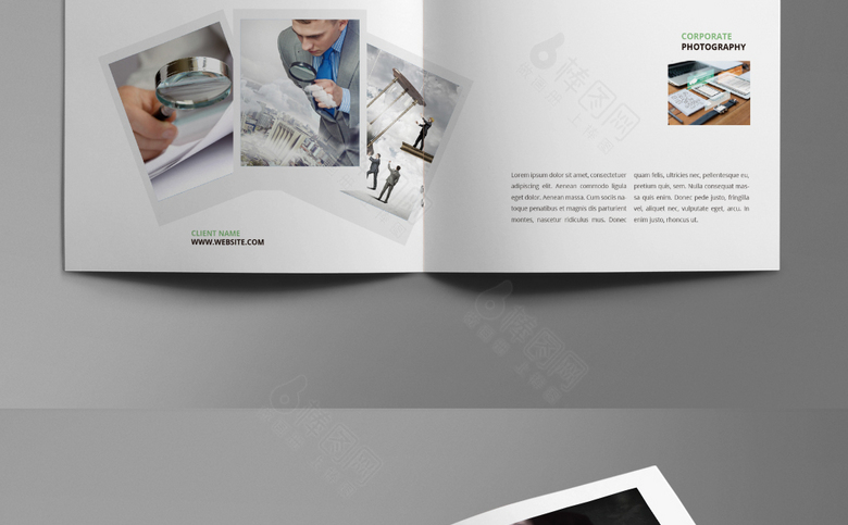 小清新简约企业画册模板