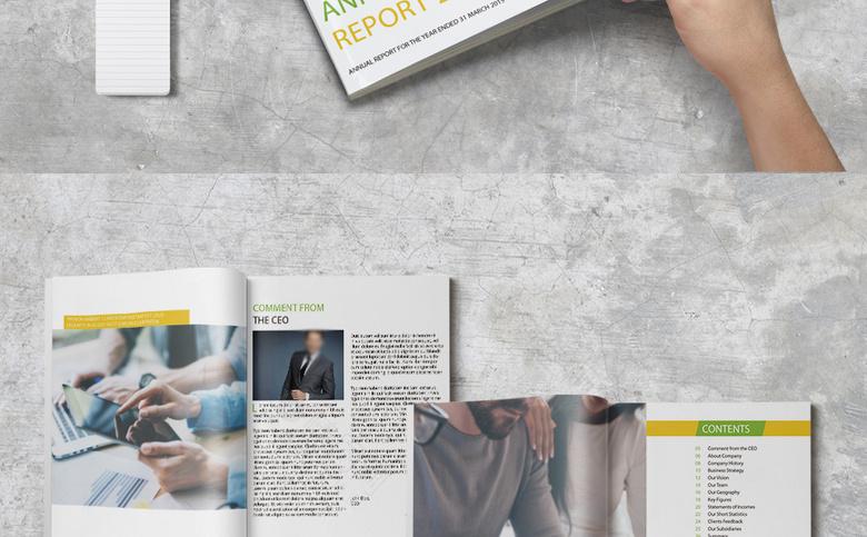 精品大气企业画册设计
