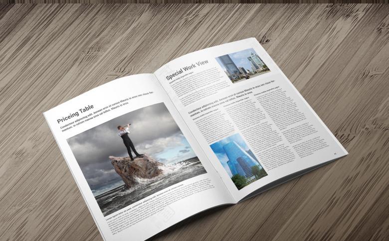 高档企业画册设计模板