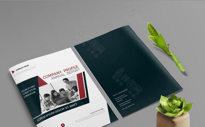 大气集团画册封面设计模板