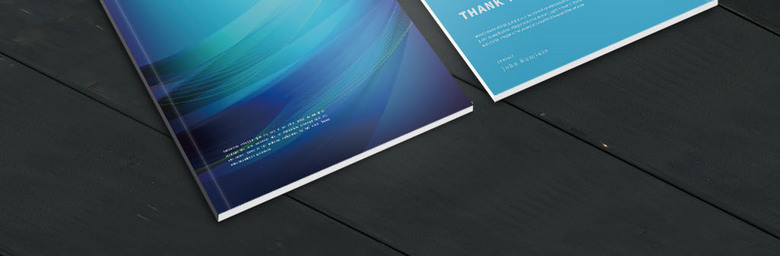 蓝色科技线条画册
