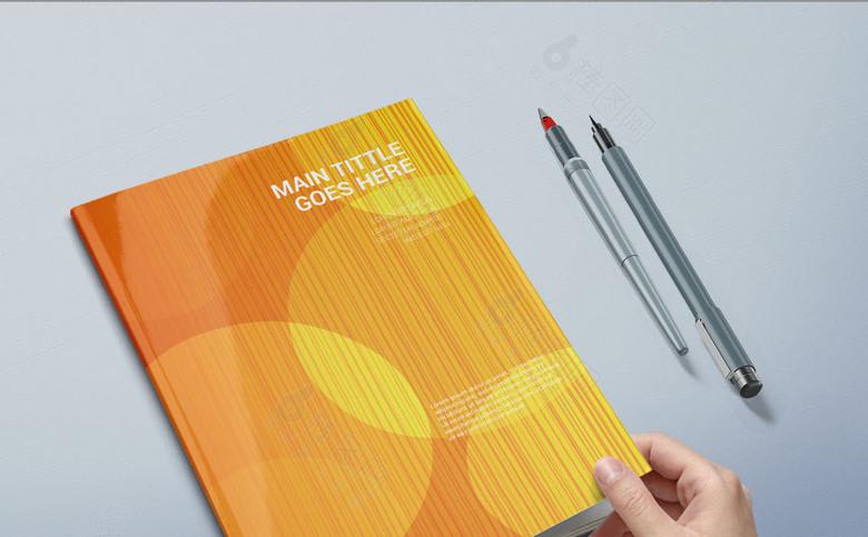 橘色封面设计