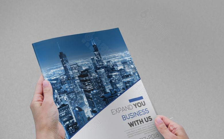 蓝色时尚画册封面设计
