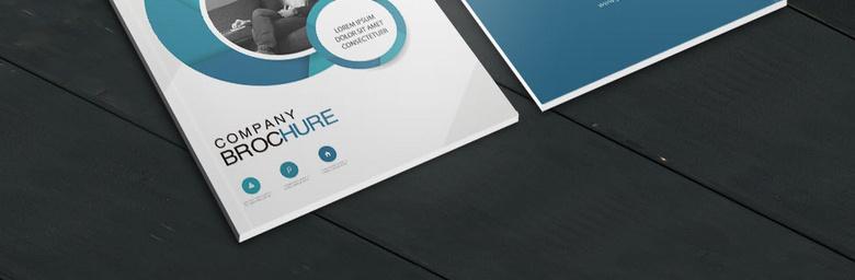 蓝色圆形画册封面设计