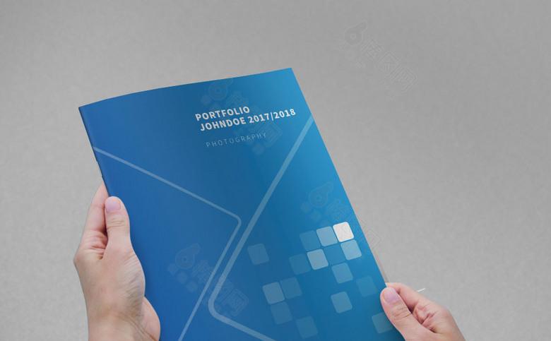 蓝色科技感企业画册封面