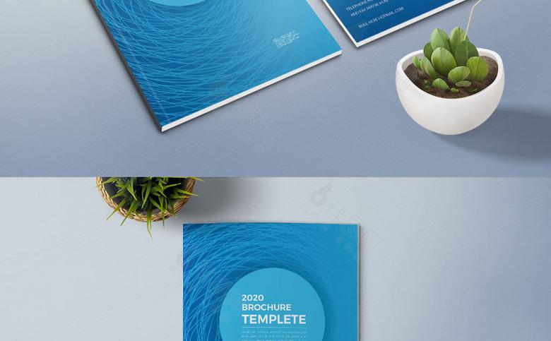 蓝色科技线条企业画册封面