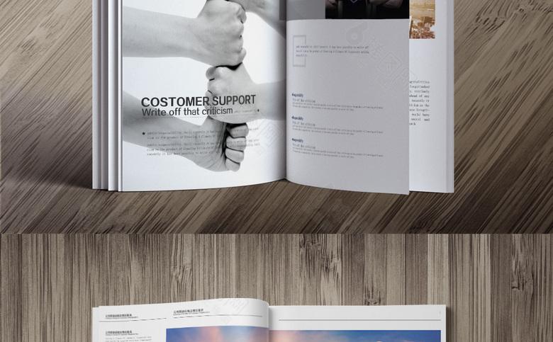 黑色个性装饰公司宣传画册