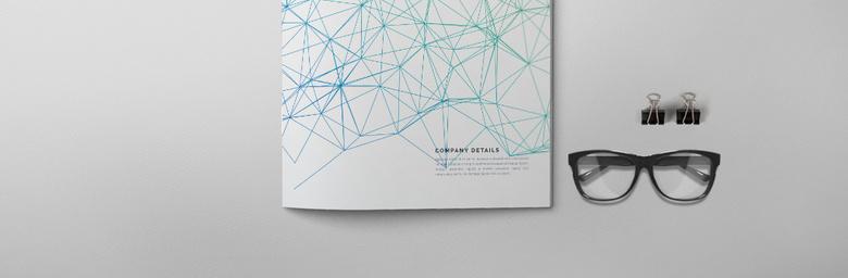 抽象线性画册封面