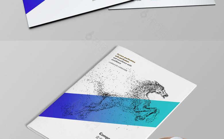 高等企业画册封面设计模板