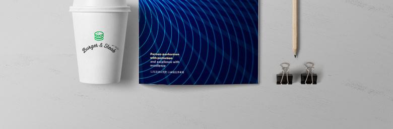 蓝色大气画册封面
