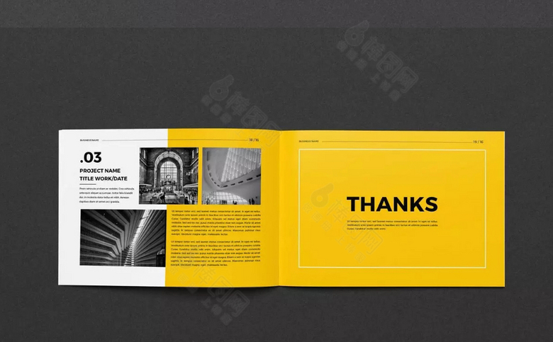 黄色企业画册