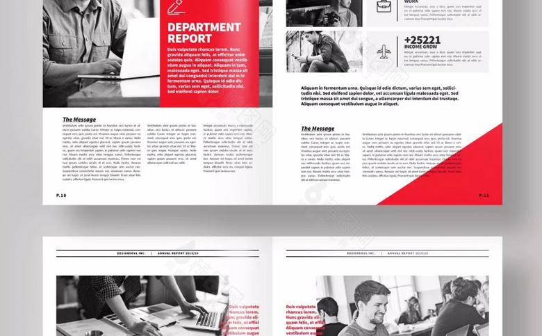 红色企业画册