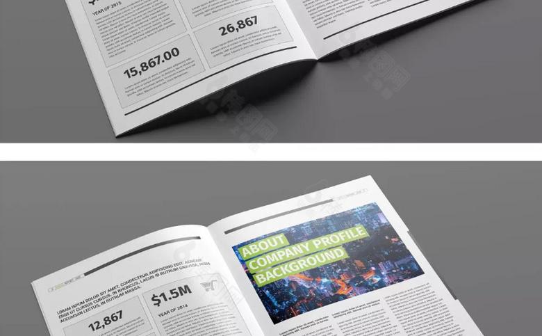 企业年度业务报告宣传册